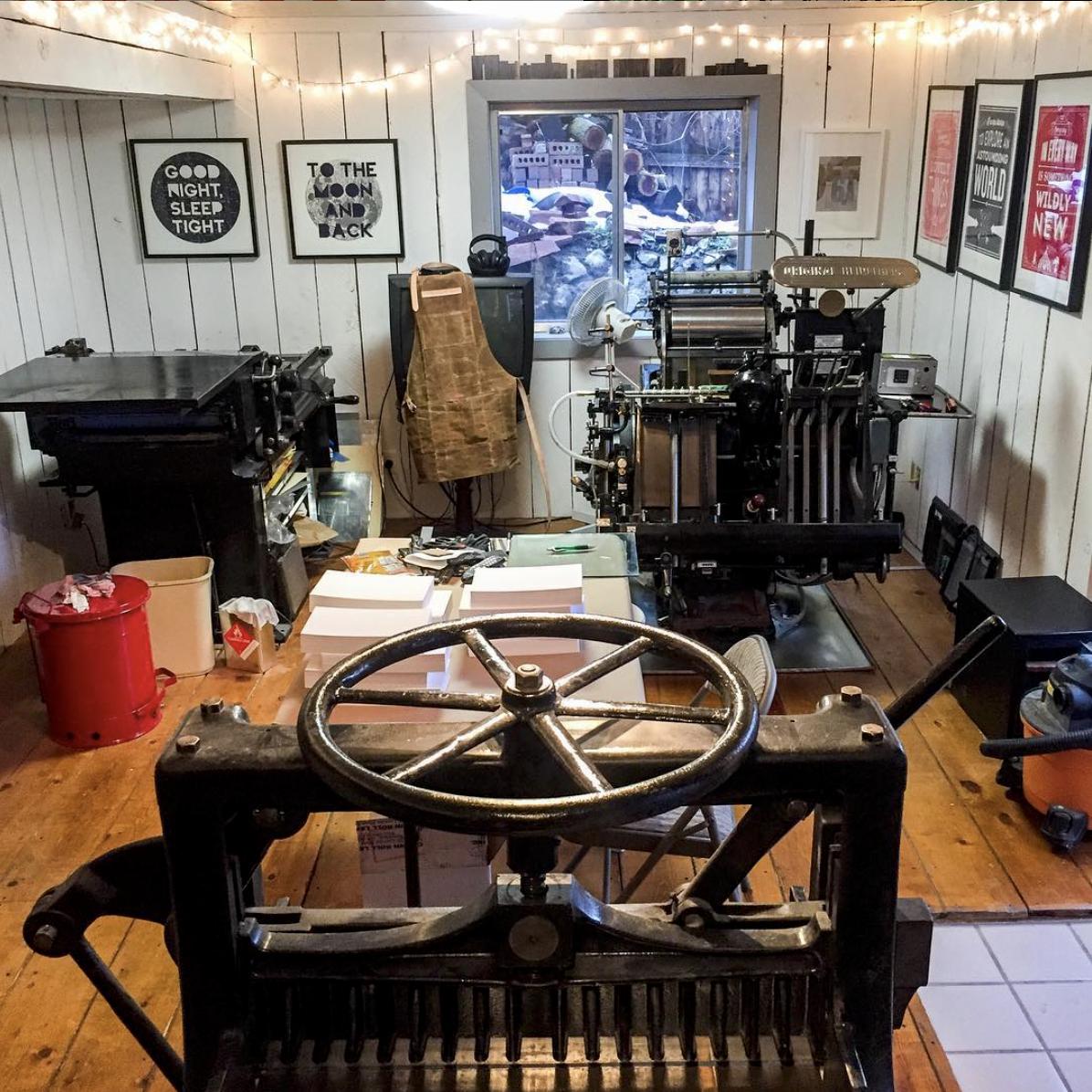 Paper Bandit Press studio in Provo, Utah