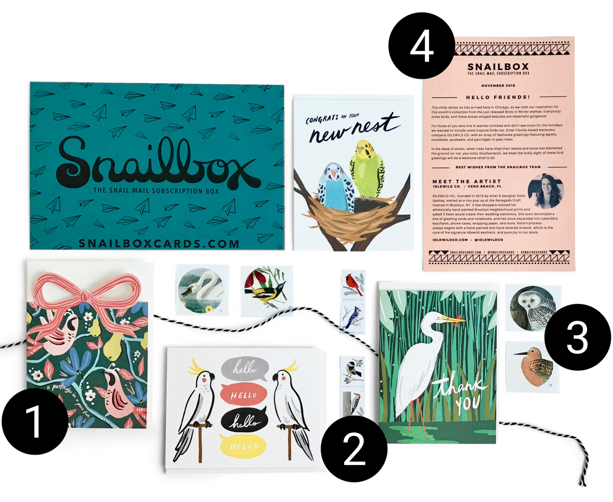 Snailbox Subscription Contents