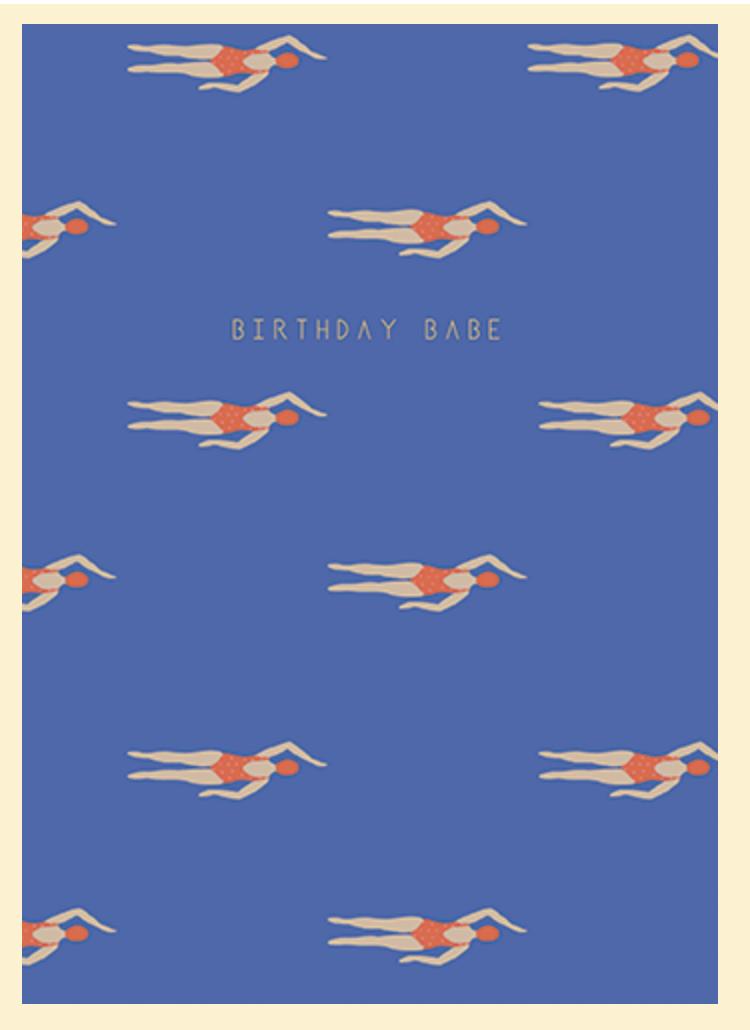 Katie Leamon CUB Birthday Babe greeting card