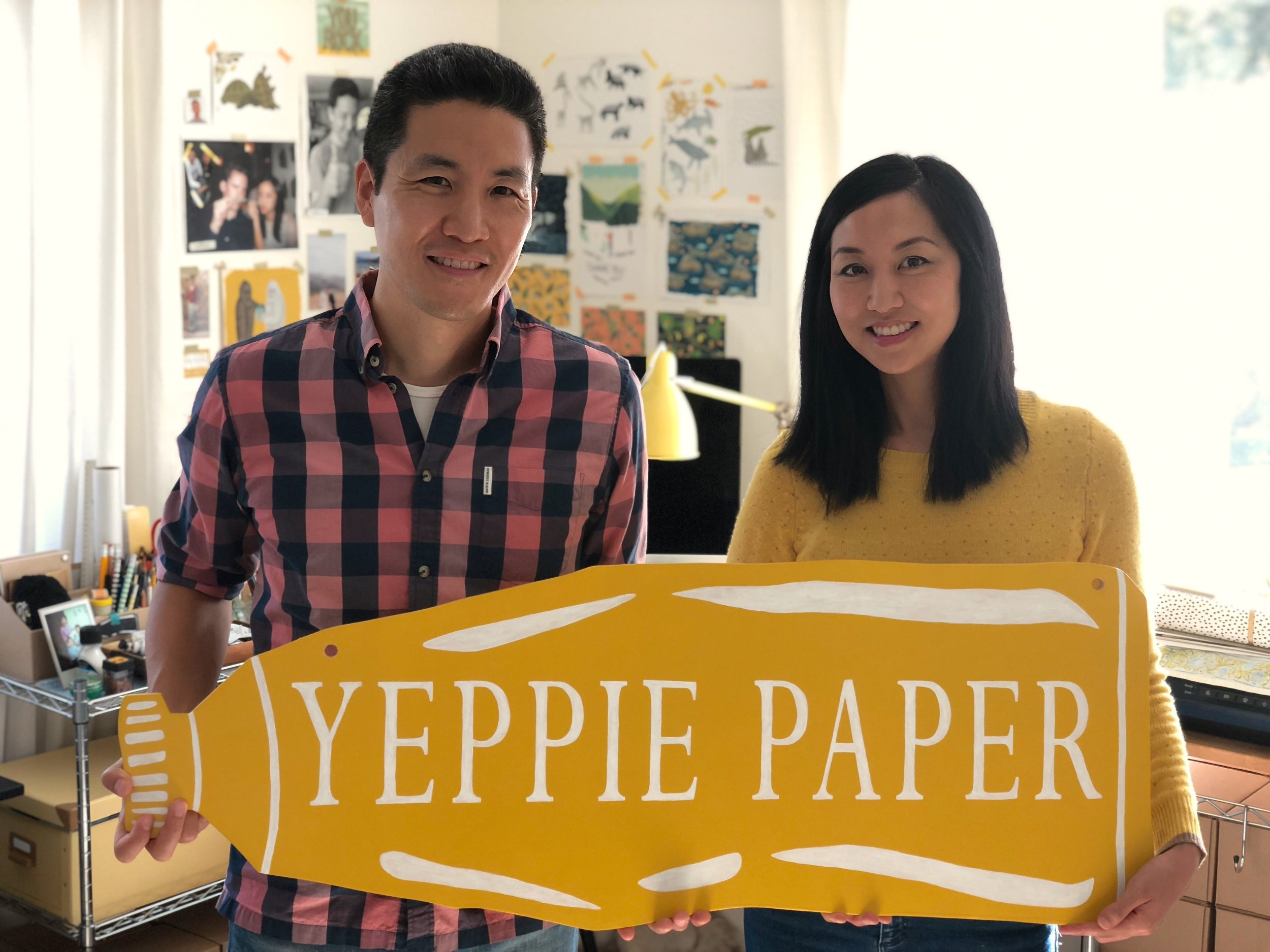 Brother and sister team Jim and Jennifer of Yeppie Paper