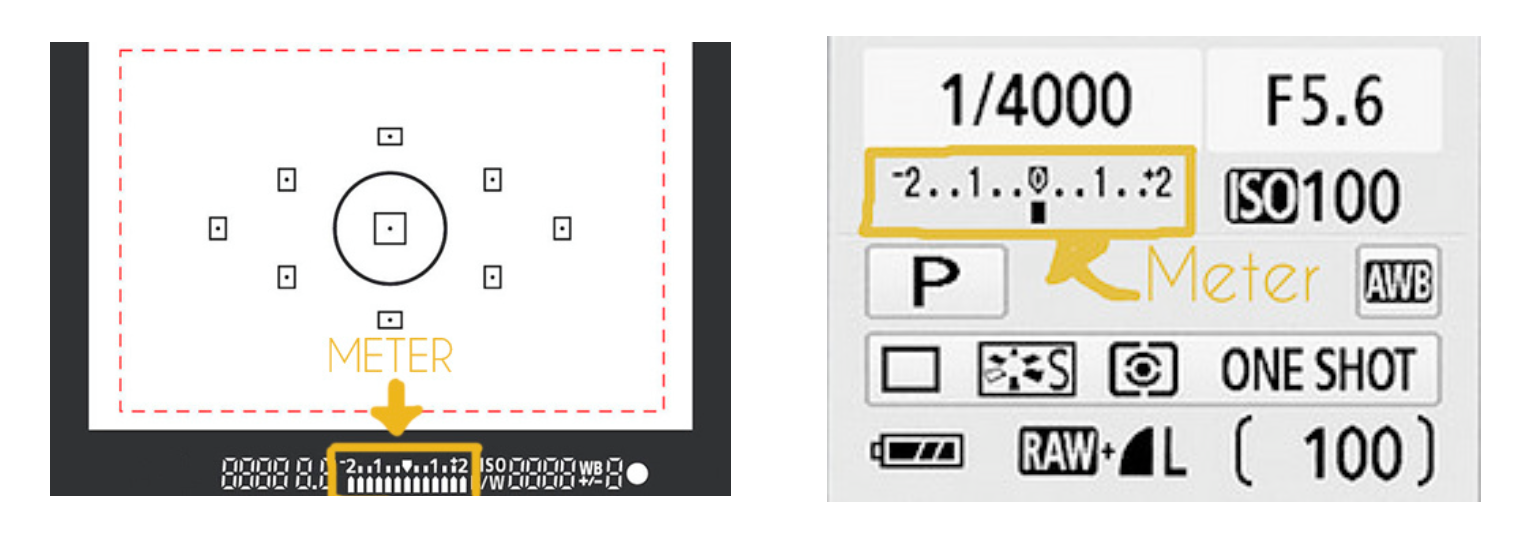 for non Nikon models, the meter looks like this