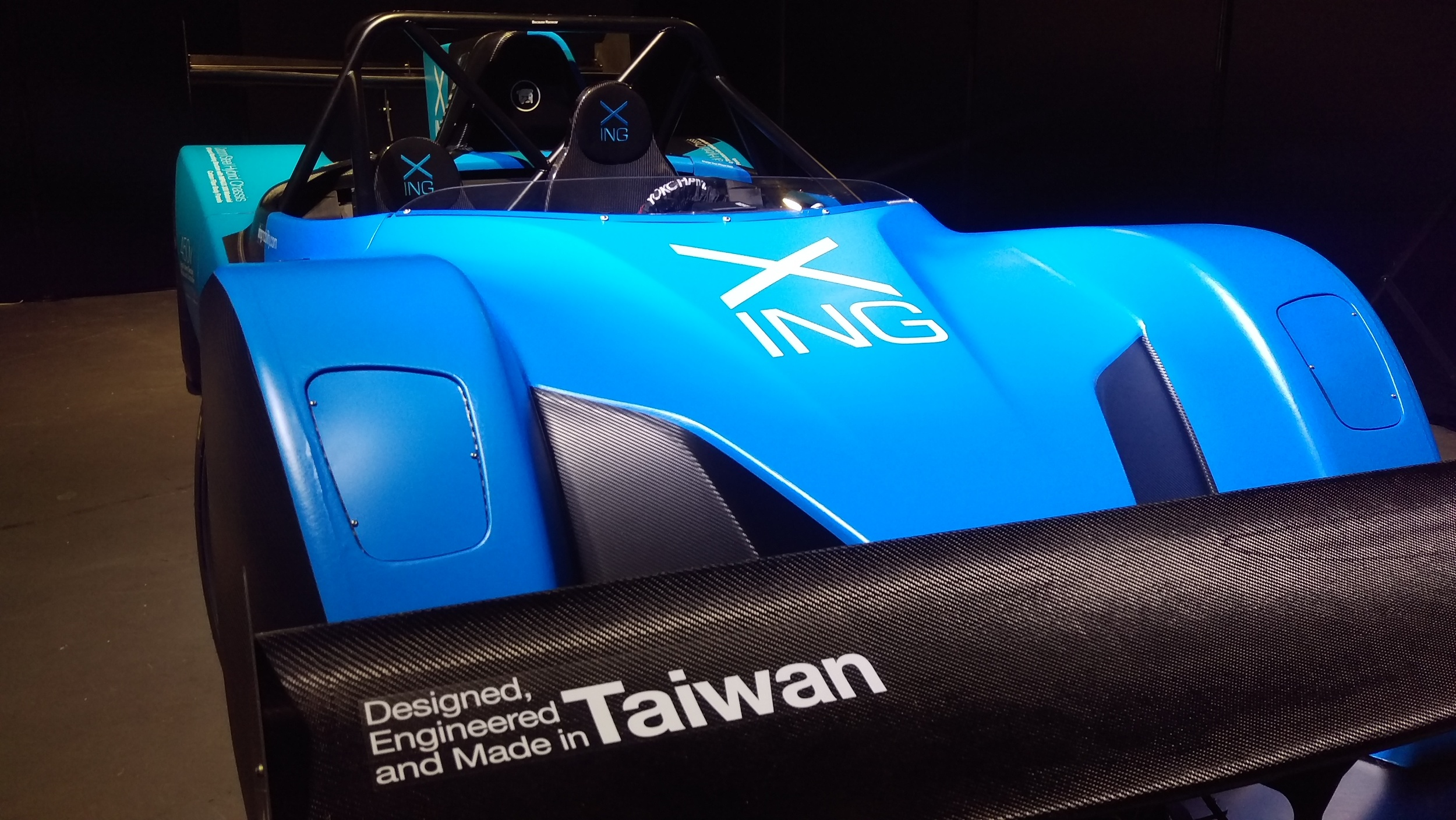XING Mobility's electric race car prototype was unveiled at TEDxTaipei in October.
