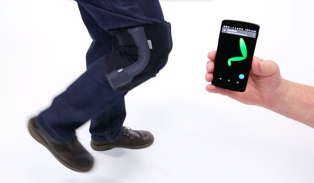 Screen capture of the Bend Labs Smart Knee