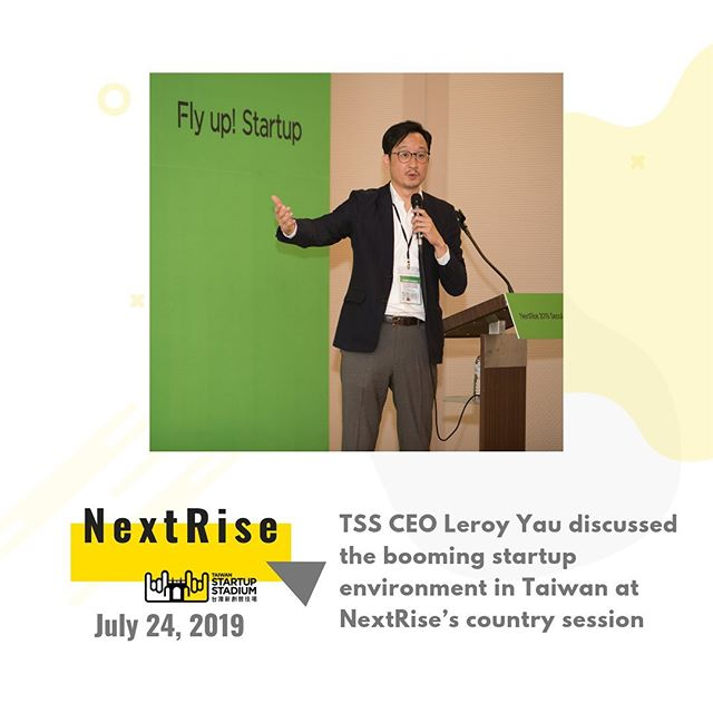 🤘We just came back from our fourth overseas trip this year. 🚀We brought four awesome teams @cellwineapp #Vago #Gliacloud #MatchNow to Korea and ✨our CEO Leroy Yau spoke during the country session at the NextRise conference in Seoul. / To learn more about our SLX 🔎#TSS_slx Interested in our events? 🔎#TSS_events / #Nextrise2019 #seoul #startuplife #startupconference #taiwanrocks #asiarocks #taiwanstartupstadium