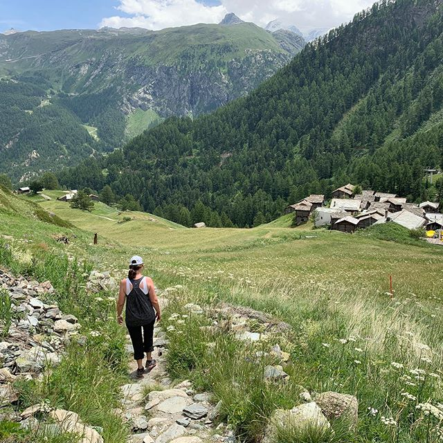 Appreciative @pbullington for the weeklong summer '19 cool down in the Alps. Days of hiking and a day of biking in the crisp fresh air... you were right, it was time to return!#zermatt #summercooldown #bullingtontravels
