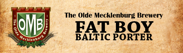 A Baltic Porter style beer brewed by The Olde Mecklenburg Brewery in Charlotte, NC