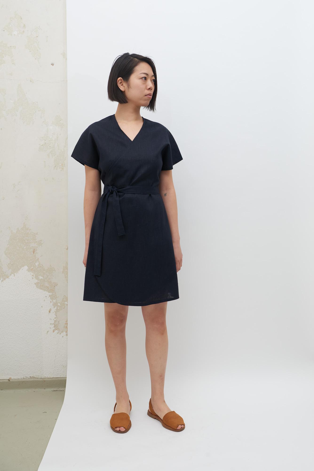 Rappu Dress - Navy