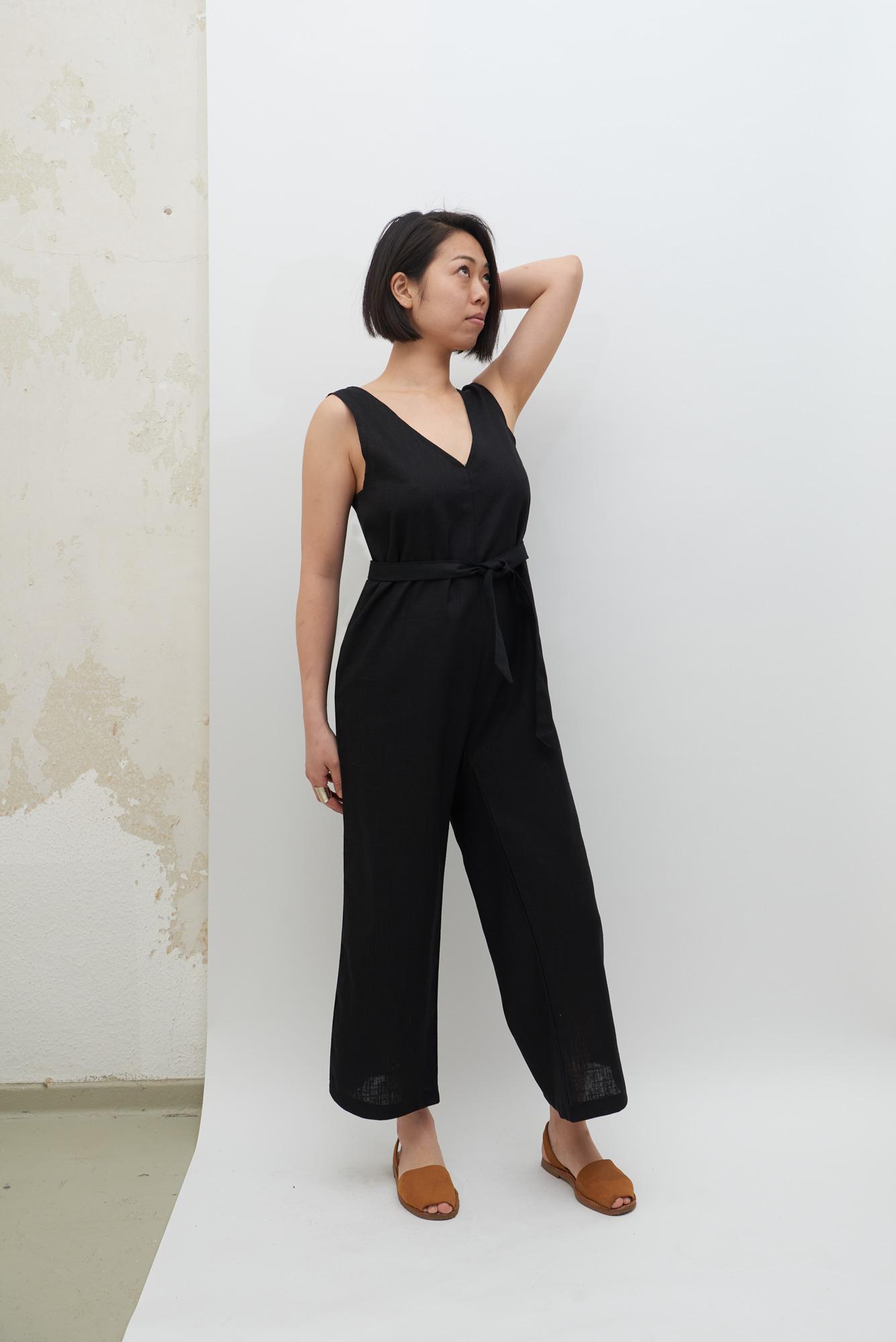Linen Jumpsuit - Black