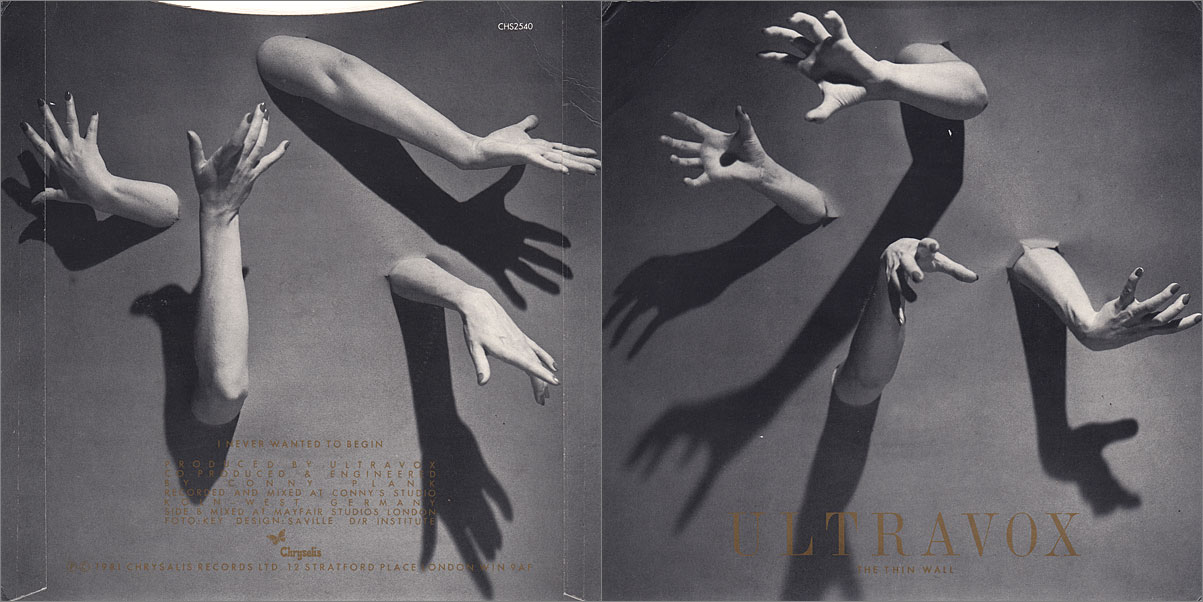 Ultravox, The Thin Wall, 1981, design Peter Saville