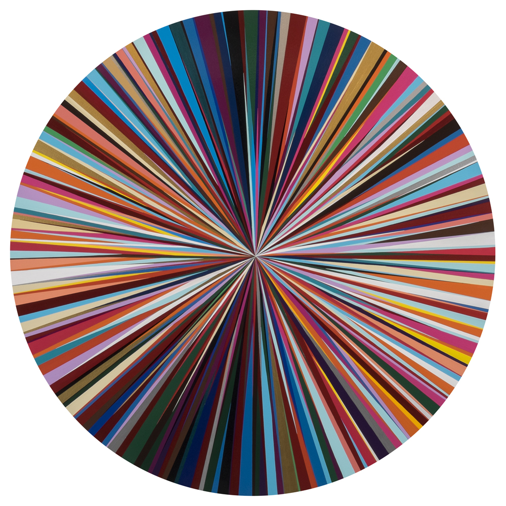Josephine   Enamel on Wood  48 inch diameter  2016  Commissioned for Private collection in honor of a patron's relative.