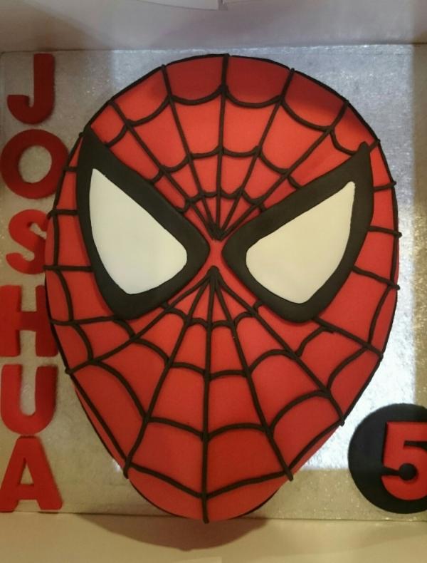 Spiderman Chocolate Birthday Cake