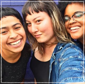 Paba, Nori, and Jasmine (ALchemy's lead roasters) slaying the coffee game AND the selfie game.