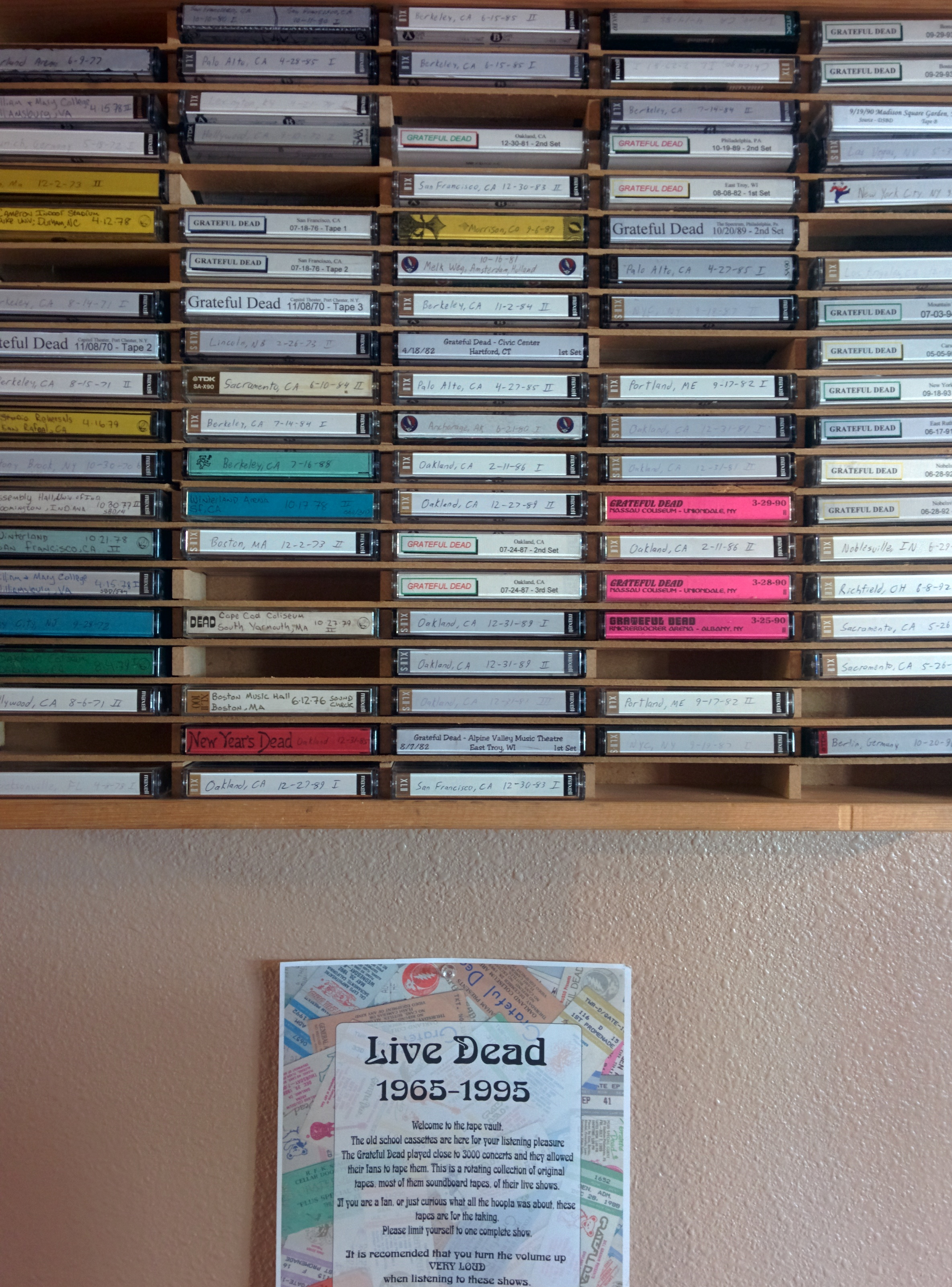 "Jeff's shop doubles as a ""No Kill Shelter"" for Grateful Dead tapes"