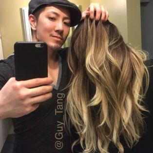 Picture: The trendster Guy Tang with his Balayage client