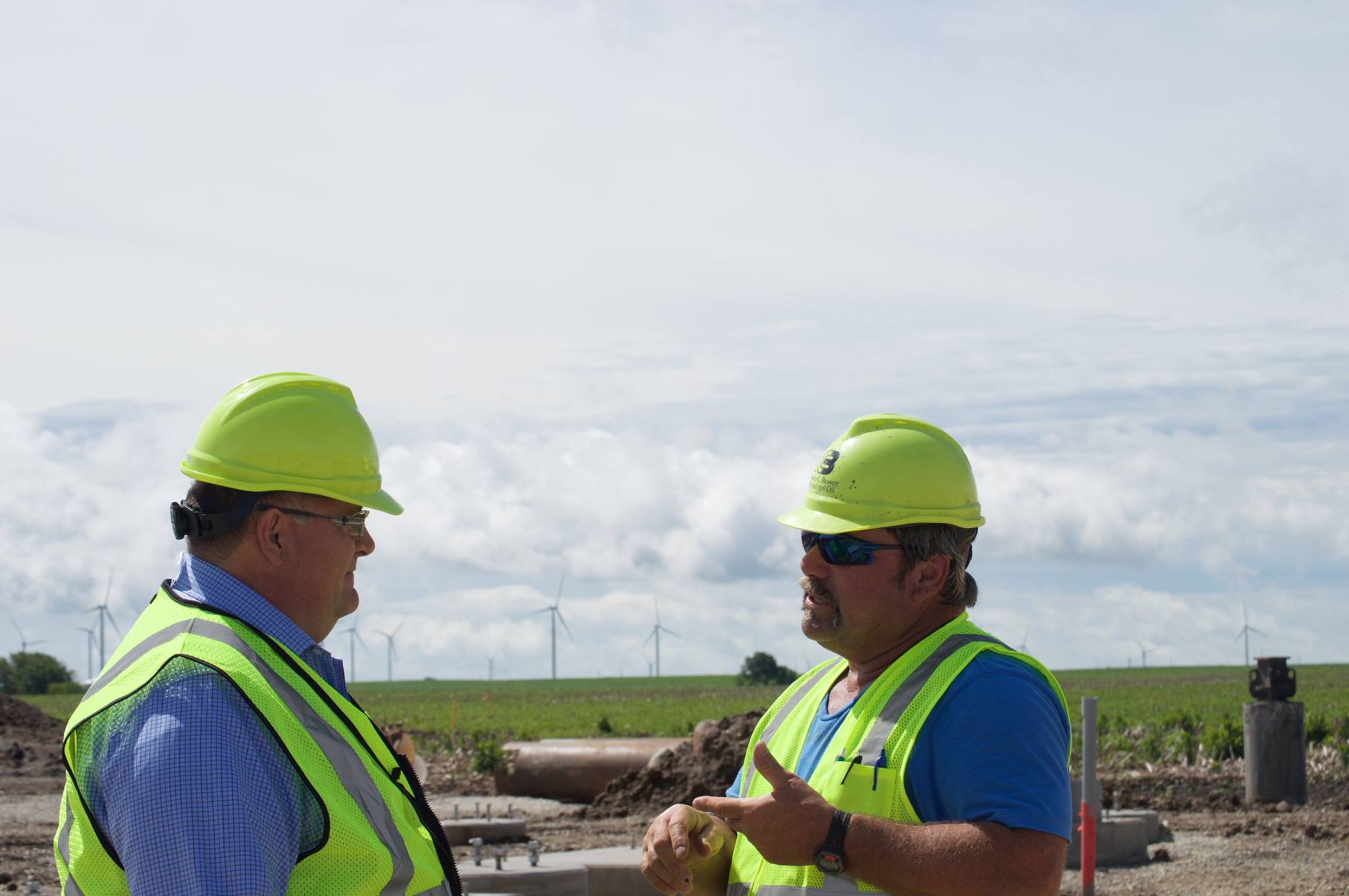 COO  Jack Lautenschlager  and Superintendent  Gary Stansberry  in Fowler.