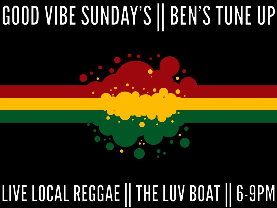 Good Vibes Sunday just got a little better with the addition of The Luv Boat! Ashevilles newest super band with members of Empire Strikes Brass, Chalwa and Dub Kartel! They bring all the Good Vibes playing world class yaght reggae