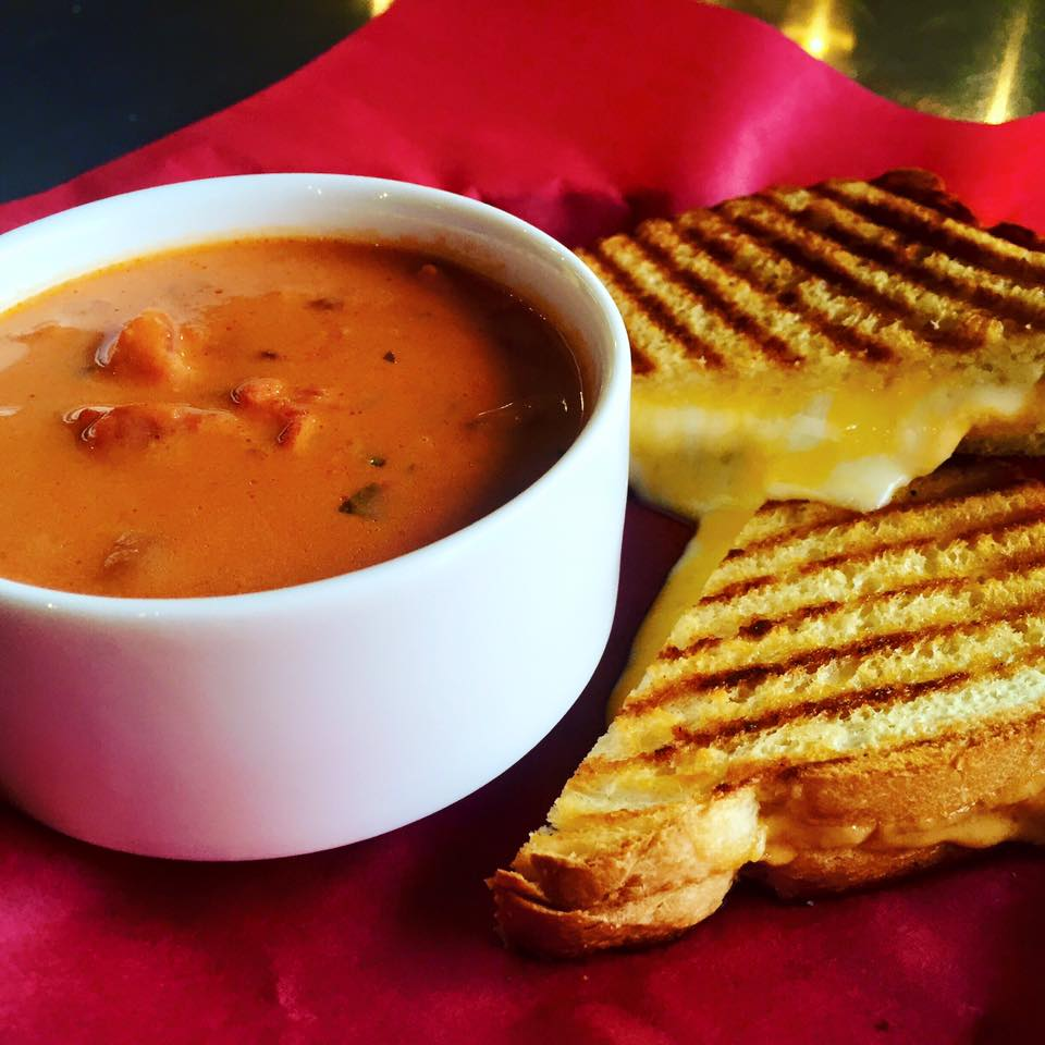 Grilled Cheese and Tomato Soup (soup in fall/winter).