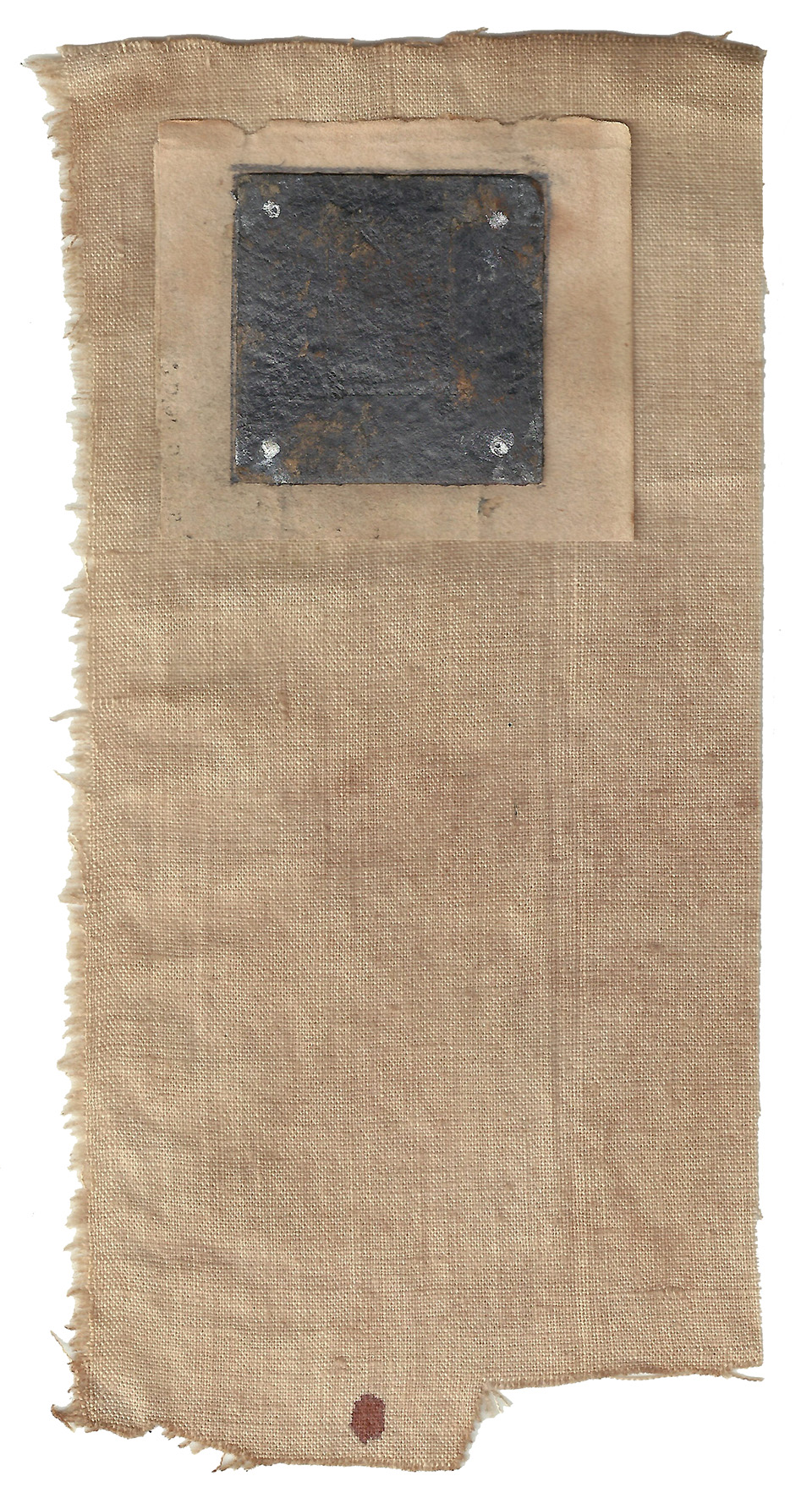 offering II 09/15 3 x 6 inches, paper, blood on cloth