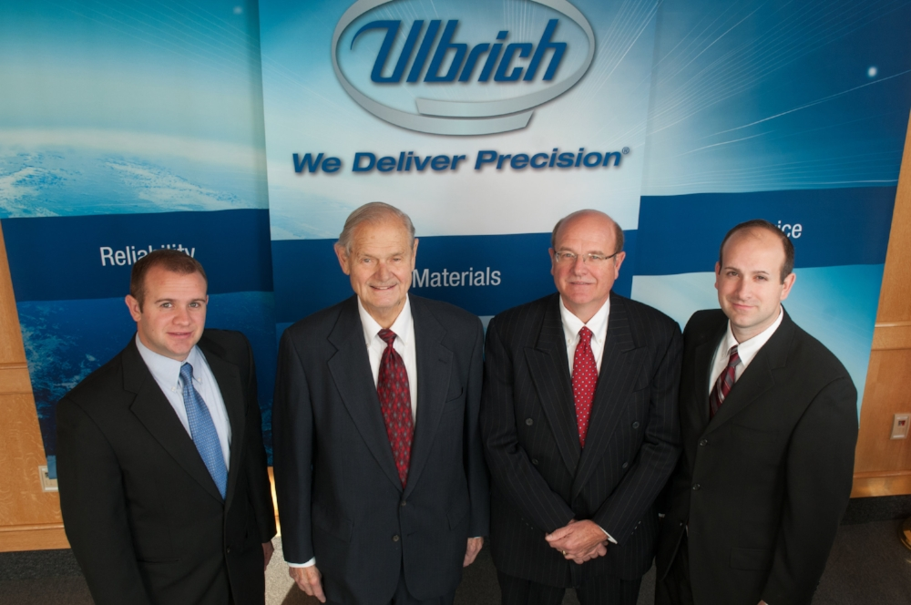 L to R: Mark Ulbrich, Fred Ulbrich Jr., Chris Ulbrich and Jonathan Ulbrich.