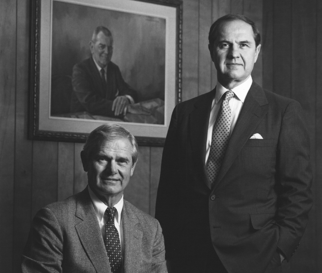 "Fred Ulbrich Jr. with his younger brother Richard ""Dick"" Ulbrich, former COO of Ulbrich Stainless Steels & Special Metals, Inc."