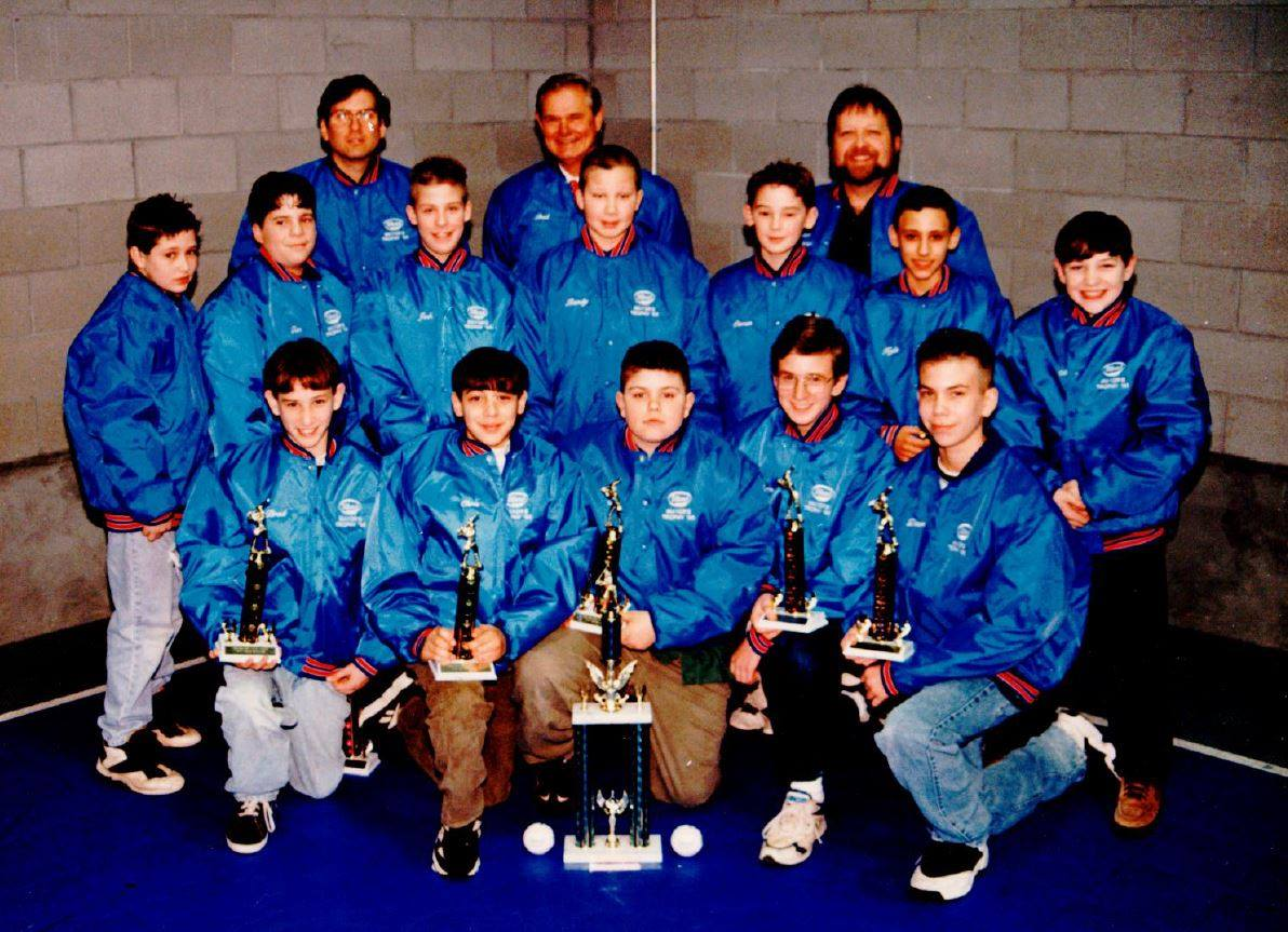 Fred Ulbrich Jr. with his championship Wallingford Little League baseball team in 1995.