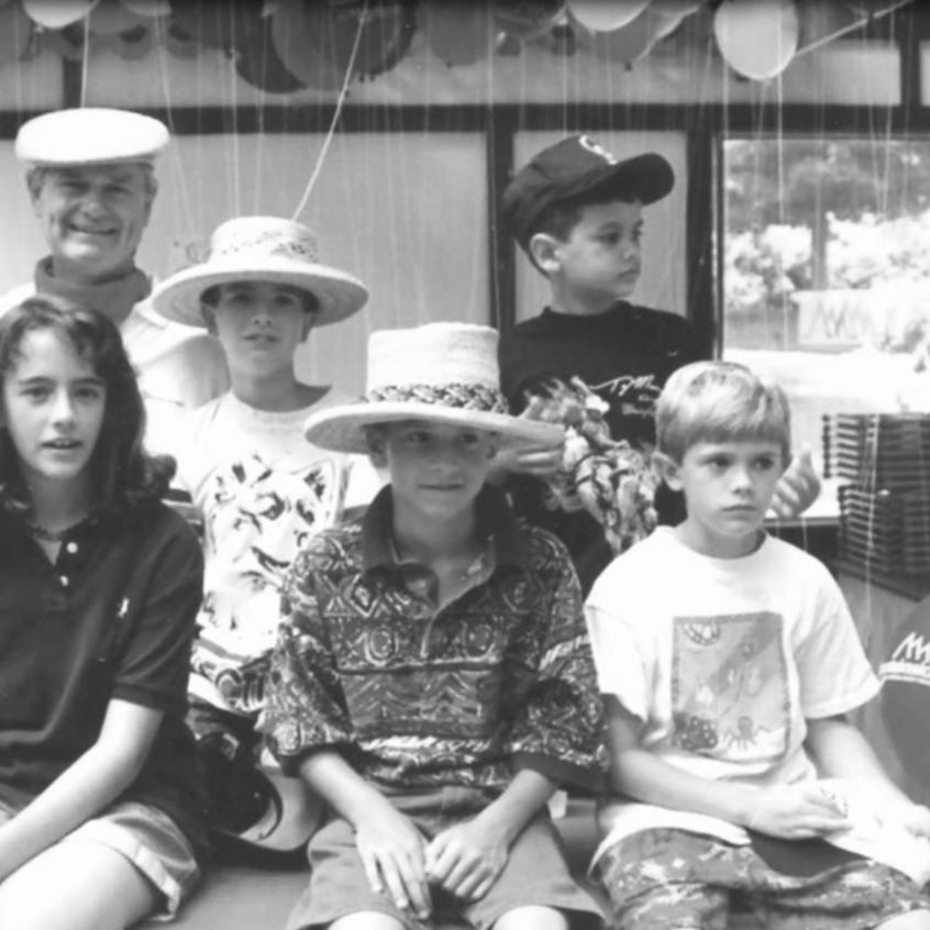Fred Ulbrich Jr. with his grandchildren at a Ulbrich Family Picnic in 1994.