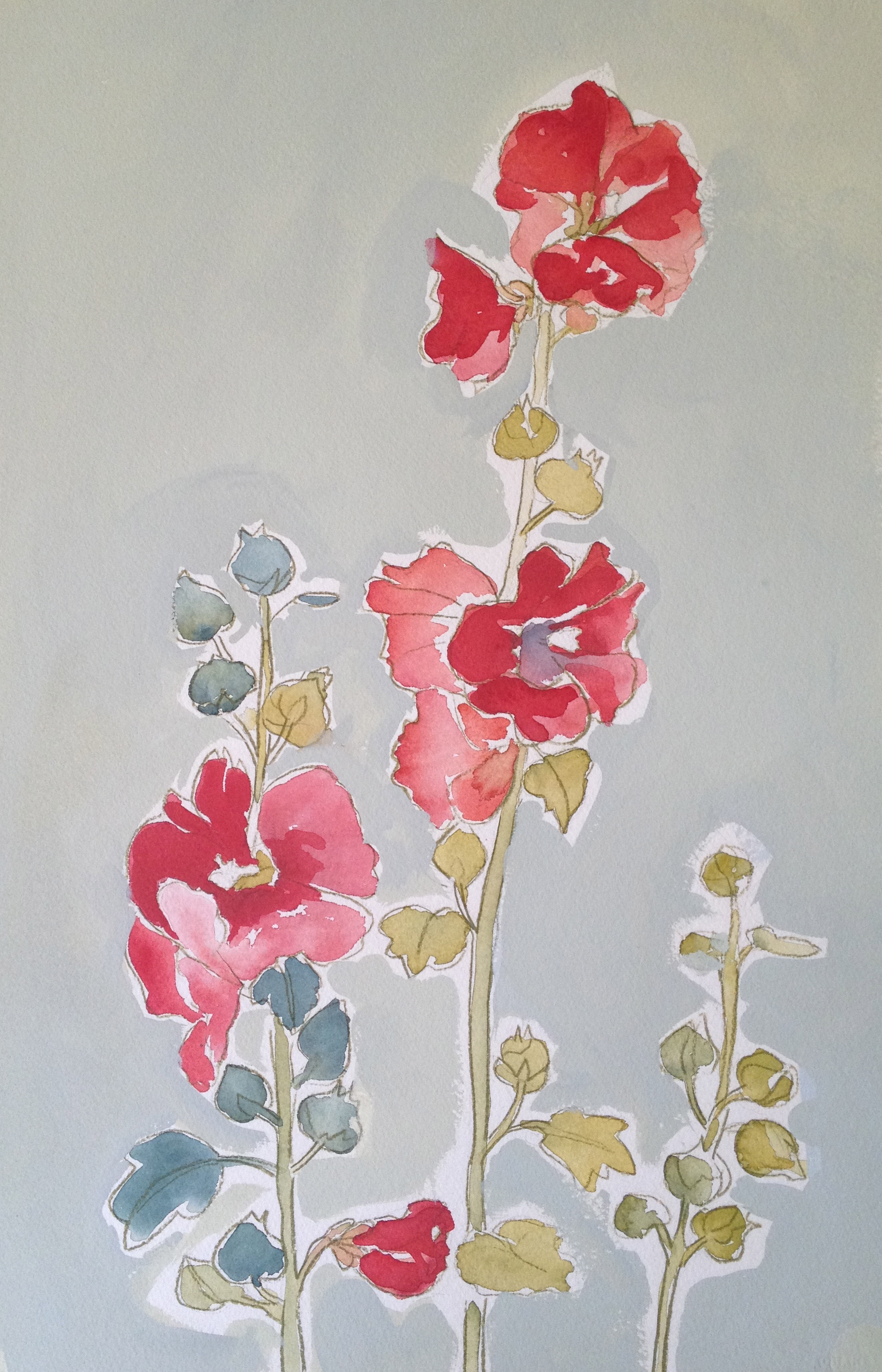 Hollyhocks nr. 3
