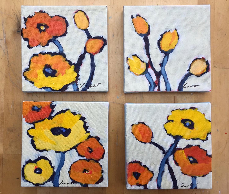Orange poppy series