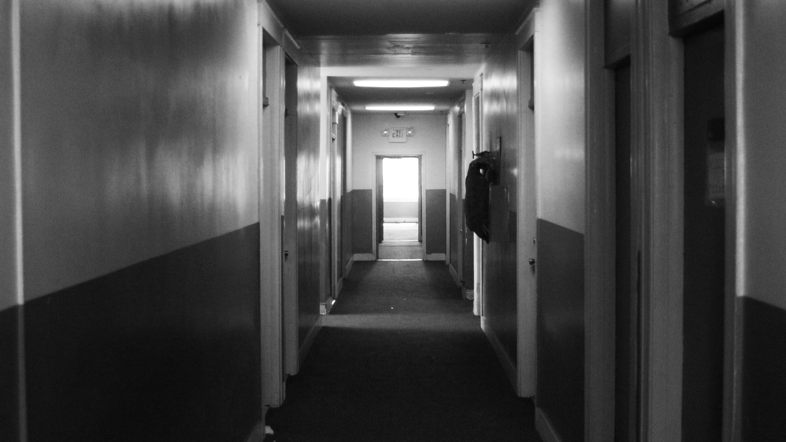 Picture of the hallway in my building that used to be a hotel. v.stephen