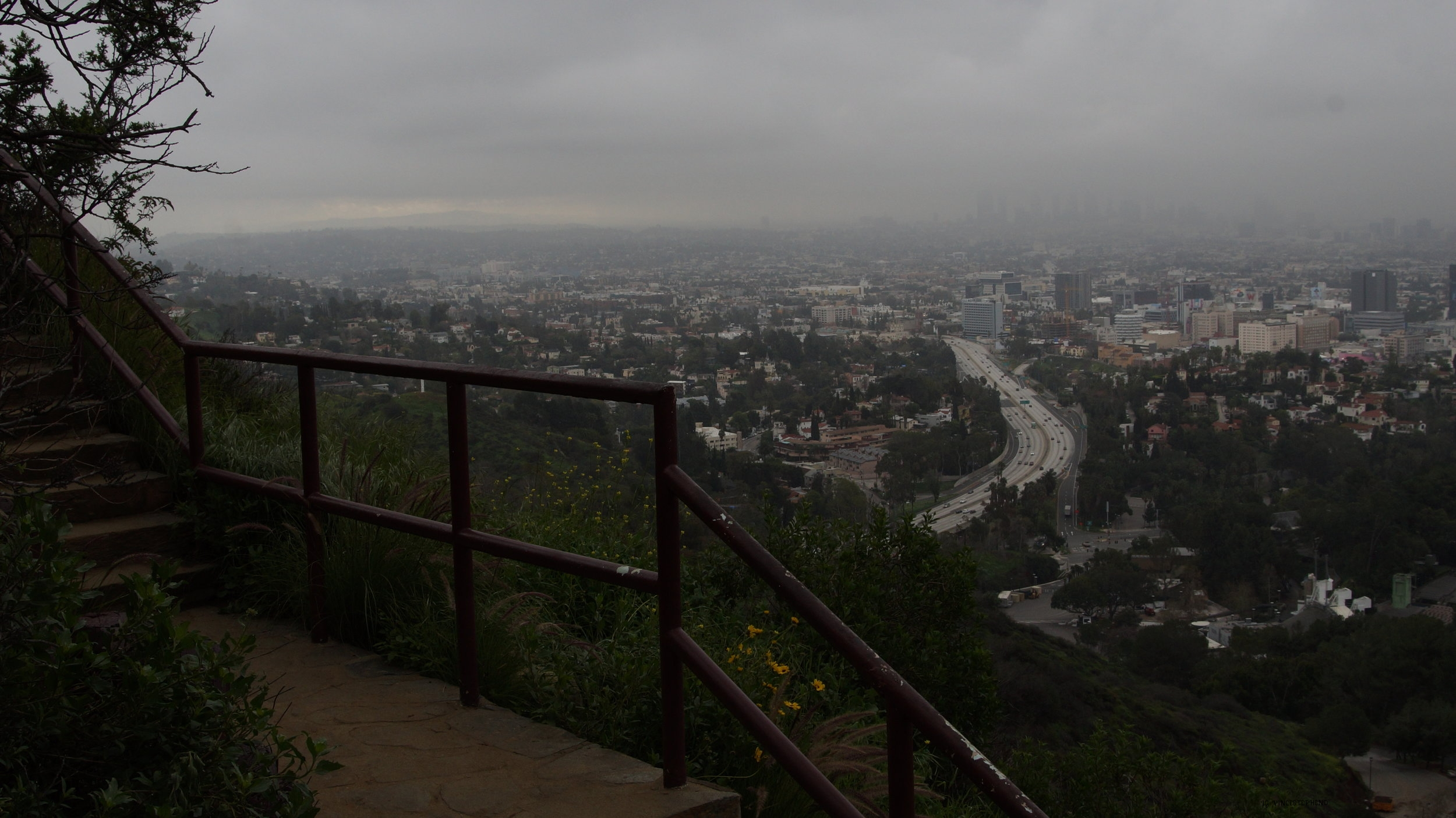 Los Angeles, Ca hollywood bowl overlook Feb. 2017 overcast/morning.