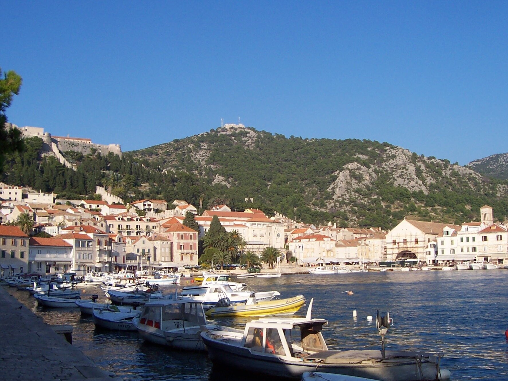 View of Hvar Arsenal from the harbour.