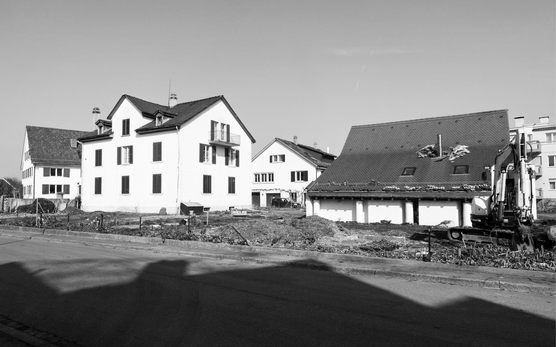 Gebäude, welche zum Abbruch freigegeben wurden, Zollikon