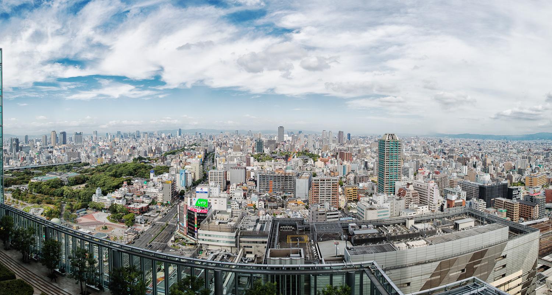 View from the Osaka Marriott Miyako Hotel