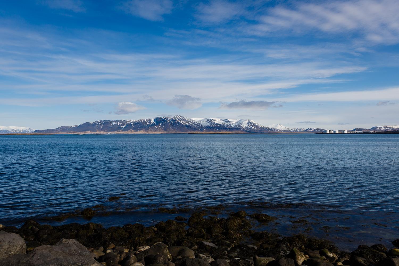 View from Norðurströnd in Iceland