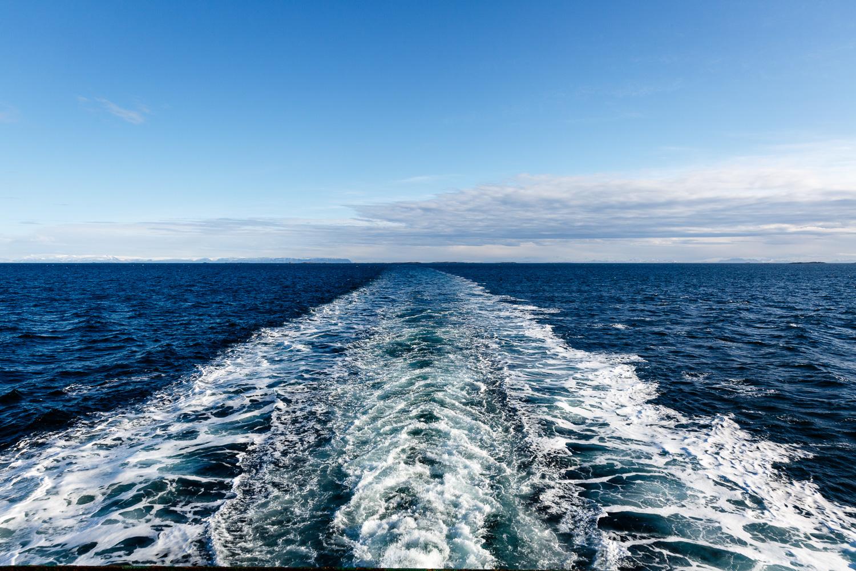 Wake of the Ferry from Stykkishólmur to Brjánslækur
