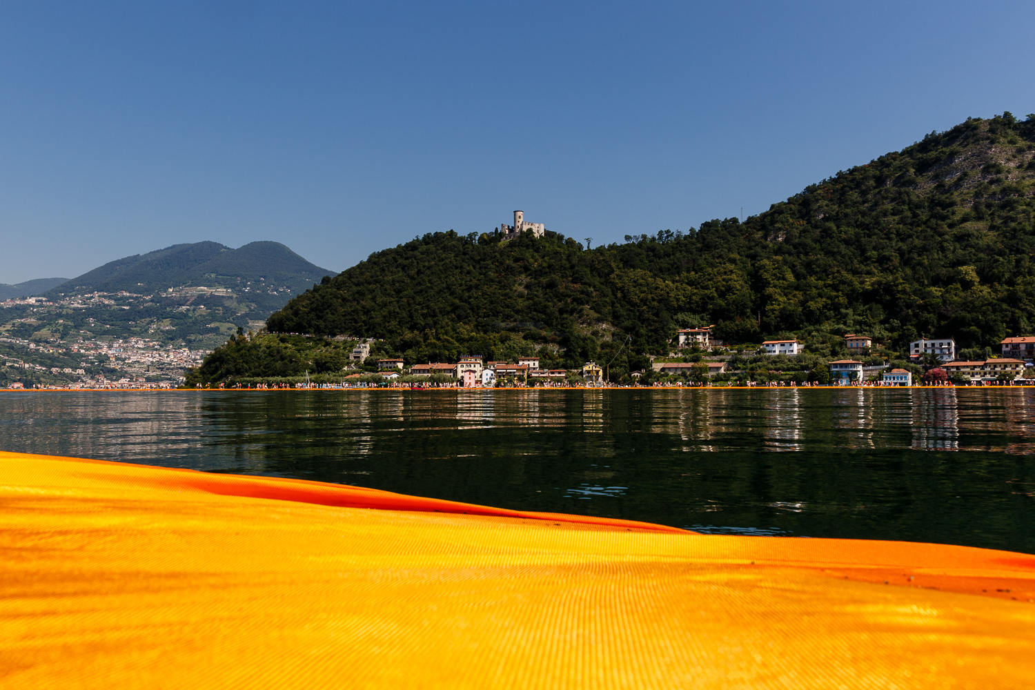 The Floating Piers - Martinengo Fortress on Monte Isola