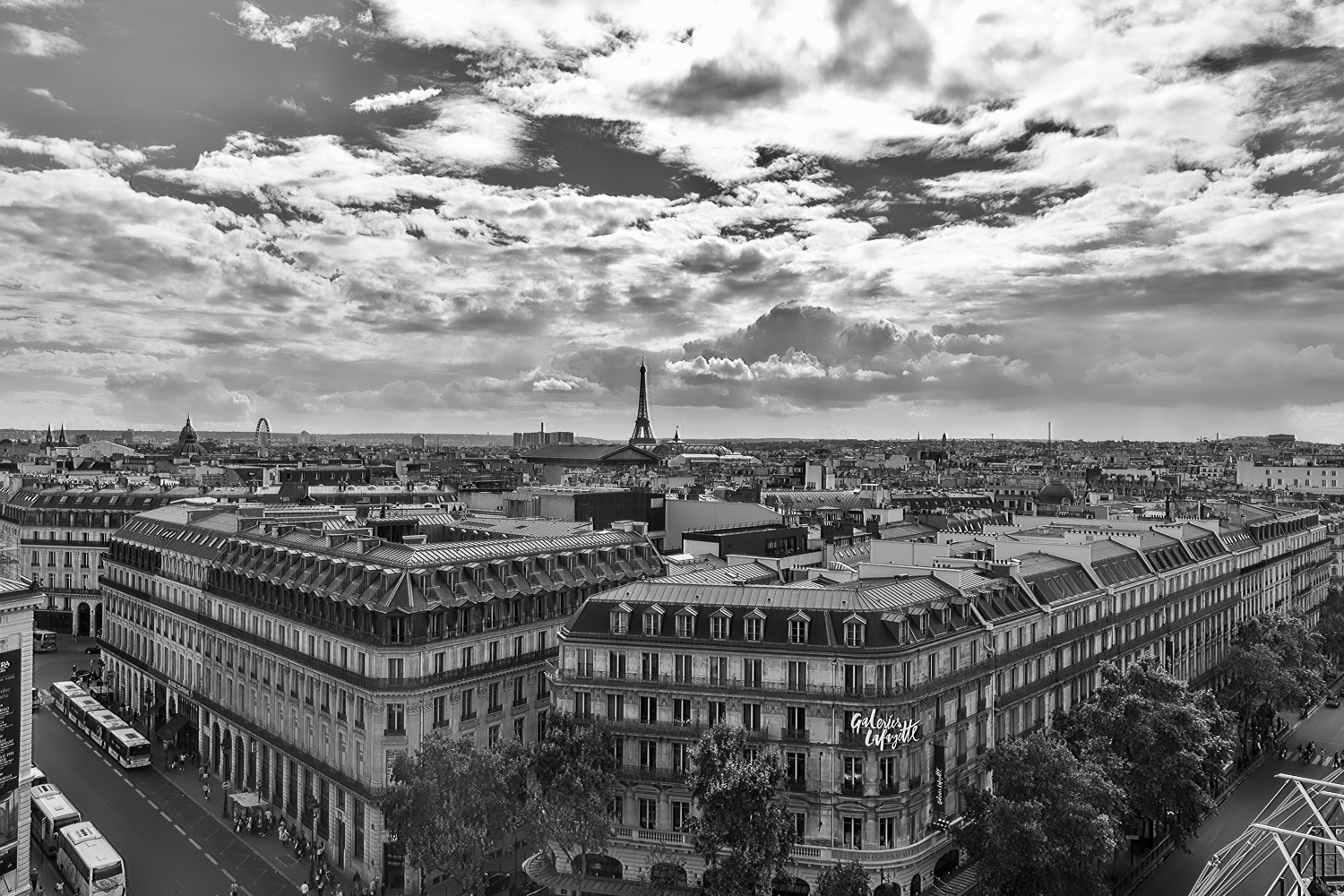 View from the Terrasse at Galeries Lafayette in Paris