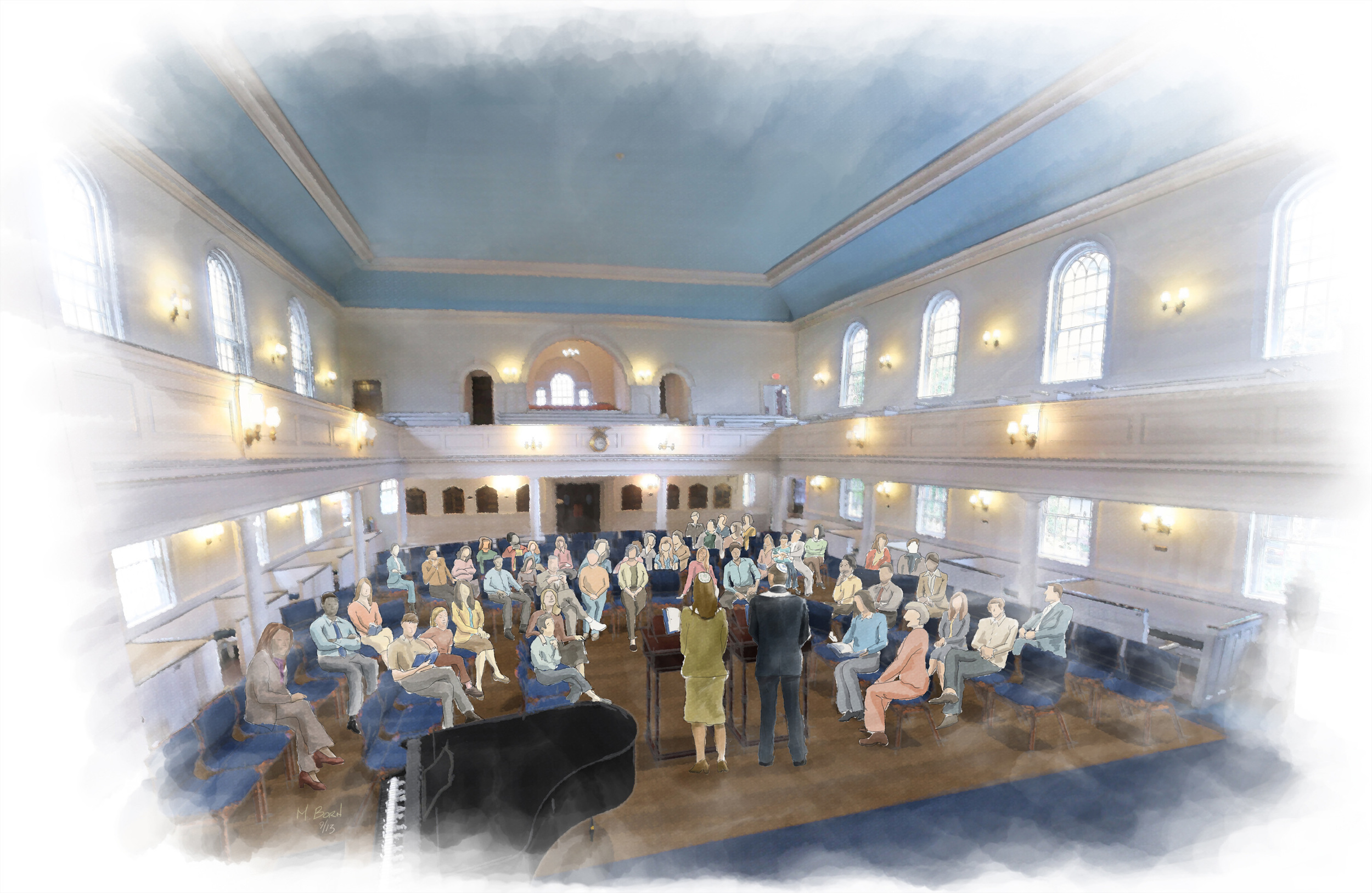 BornIllustration-Temple Sinai-View From Bema.jpg