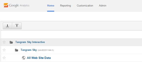 Google Analytics after you Login, you see your Accounts. Select your account by clicking on it.