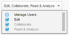 Add a user with Edit, Collaborate, Read & Analyze Access.
