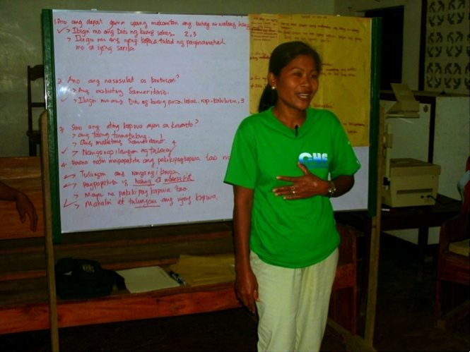 Angelita during her volunteer time with our Community Health Education (CHE)