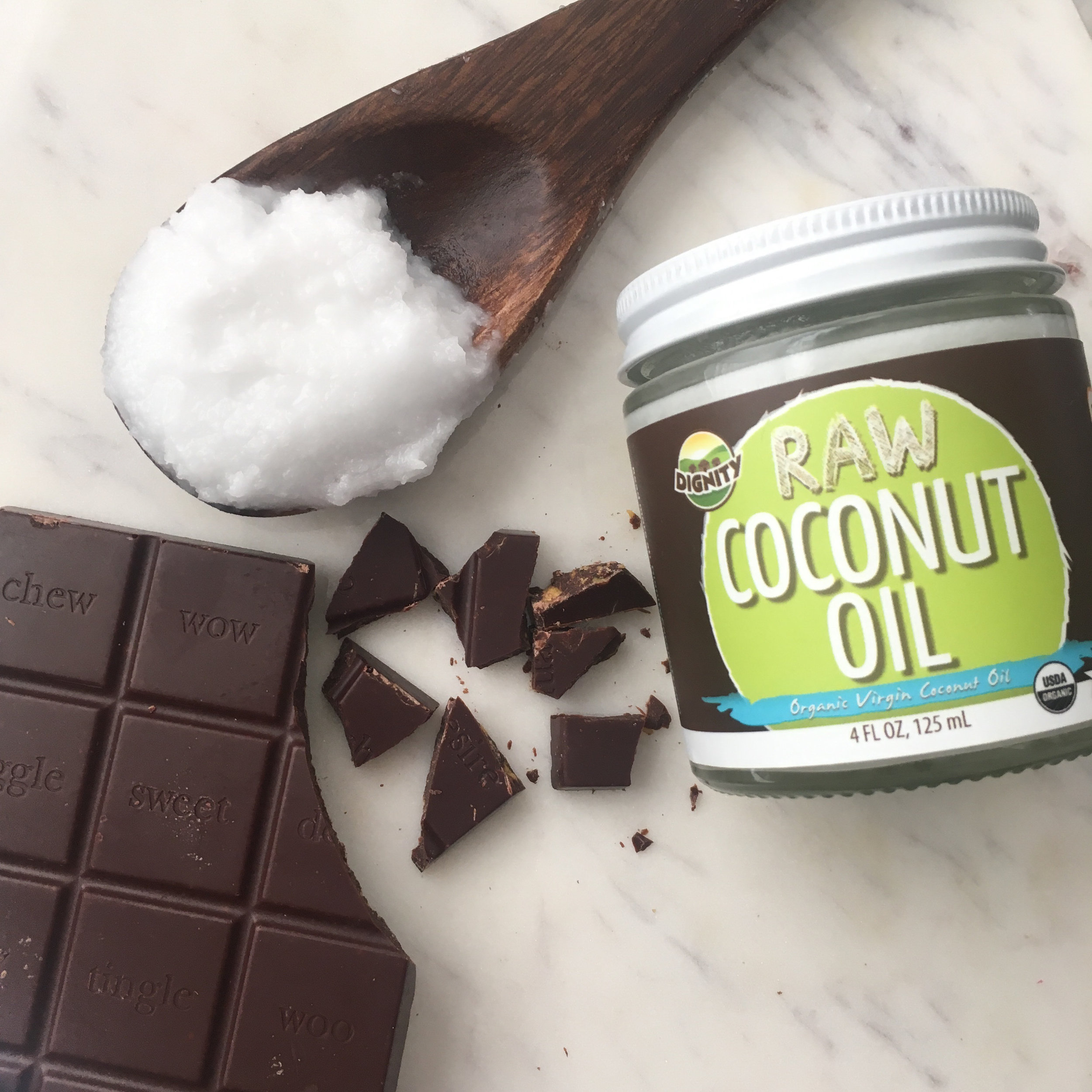 coconut oil and chocolate treat