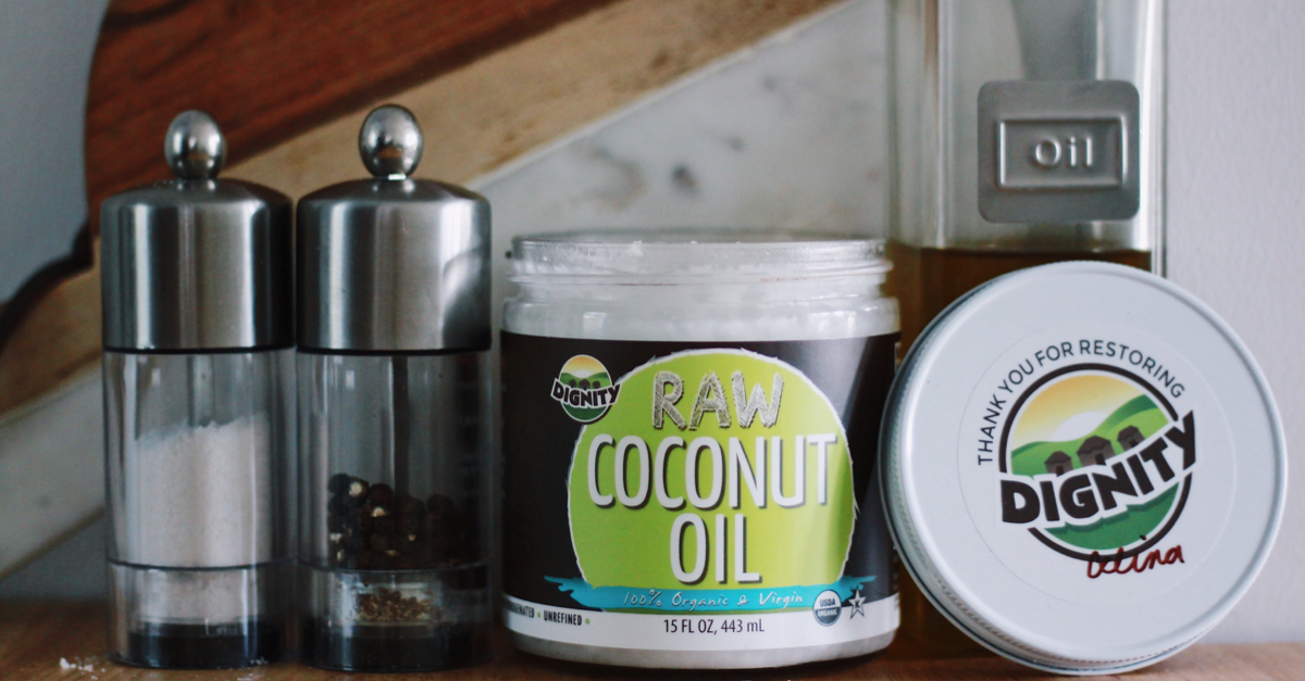 Switch to the BEST cooking oil. Dignity's RAW Virgin Coconut Oil is RAW, never heated or refined, light, fresh in taste, and packed with nutrients your body will love!