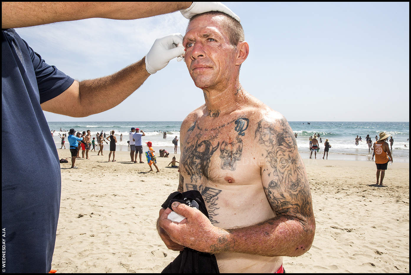 Surfing mishap //  US Open of Surfing  // Huntington Beach