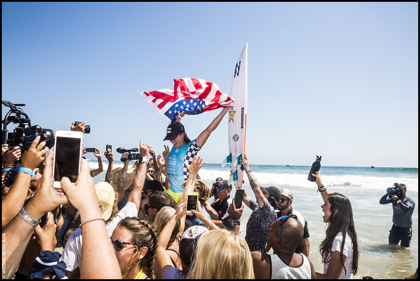 Courtney Conlogue claims women's title at  US Open of Surfing  // Huntington Beach