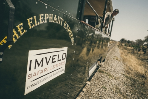 The Elephant Express operates along a once-abandoned railway line running through Hwange.