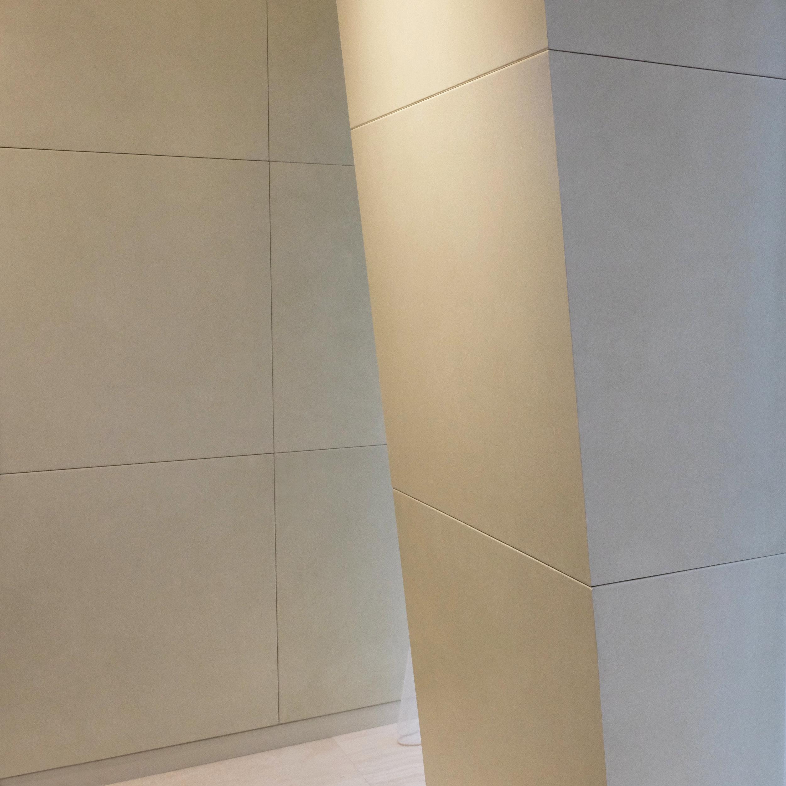Faux Parchment Glazed CNC Milled Panels