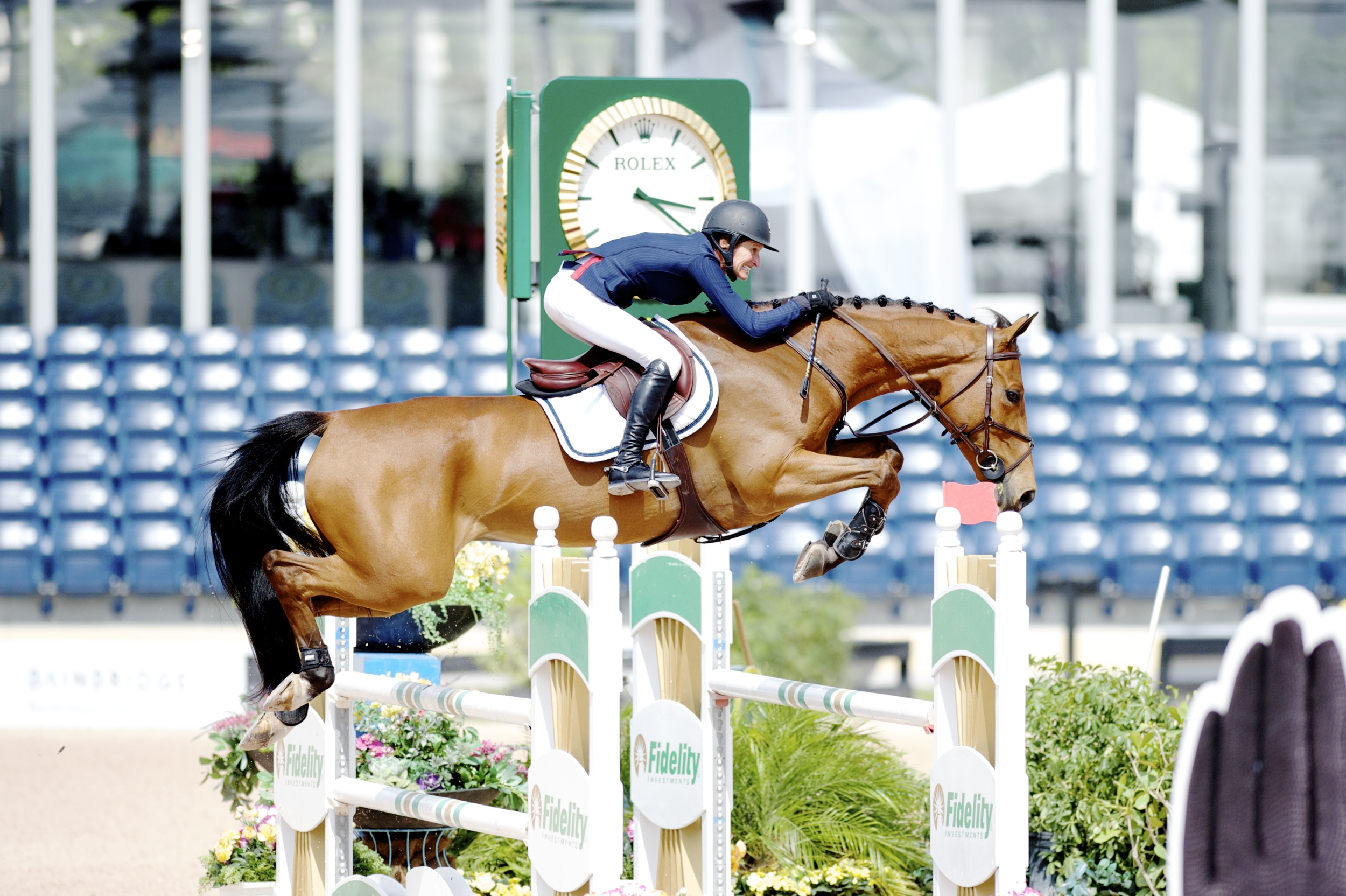 Molly Ashe and Kastriogui Z in the 2015 WEF $20,000 Adequan 7 Year old Classic