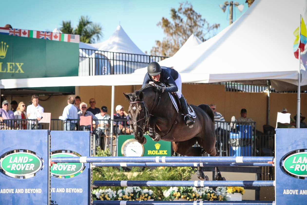 Molly Ashe and Balous Day Date at the 2015 Winter Equestrian Festival presented by Rolex