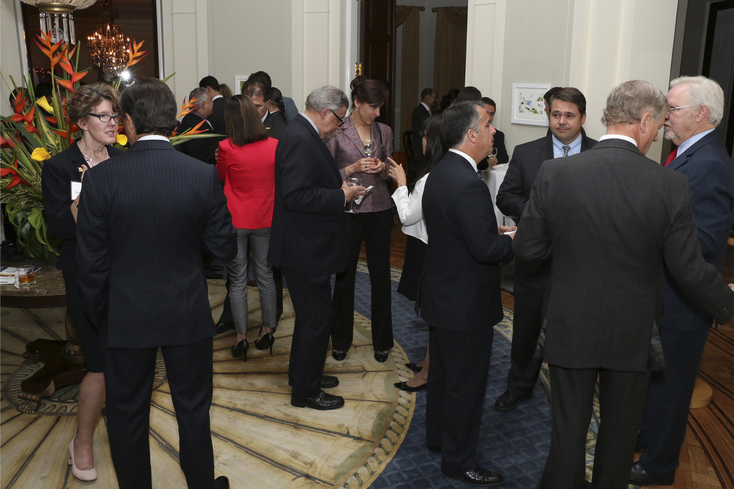 Reception at US Ambassador's residence, Bogota, Colombia